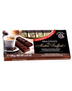 Grazioso dark chocolate with espresso flavoured filling 100g (4 pcs)