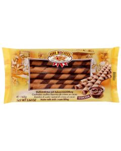 Wafer rolls cocoa 160g (2 pcs)
