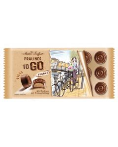 Pralines TO GO milk chocolate with peanut filling 100g Bar (4 pcs)