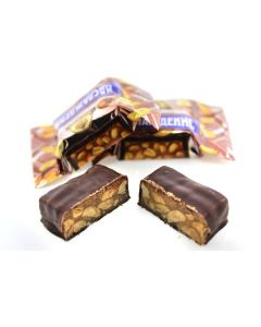 Naslazhdenie Dk Chocolate  W/ Peanut Filling (2 Lbs)