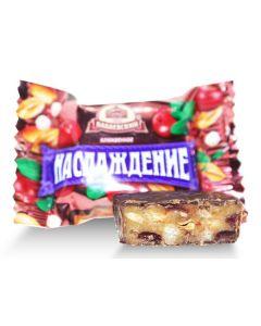 Naslazhdenie Dk Chocolate  W/ Cranberry & Peanuts (2 Lbs)