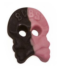 Raspberry and Licorice Foam Skulls (Skalle Skum Hallon/Lakrits) (2 Lbs)