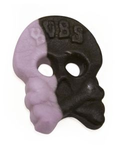 Violet and Licorice Foam Skulls (Skalle Skum Viol/Lakrits) (2 Lbs)