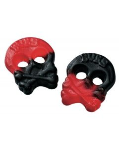 Mini Raspberry Salty Licorice Skulls (Miniskalle Hallon/Lakrit) (2 Lbs)