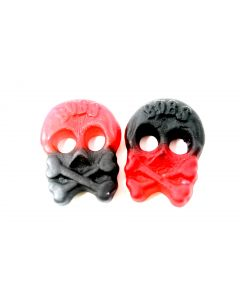 Sugar Free Raspberry and Licorice Skulls (Sockerfri Skalle Hallon/Lakrits) (2 Lbs)