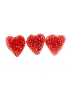 Berry Red Heart Gumdrop (Sockrade Roda hjartan) (2.200 Lbs)