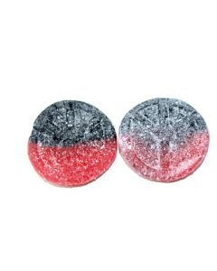 Peace Sign Strawberry Licorice (Peacemarke Jorgubb-Lakrits) (2 Lbs)