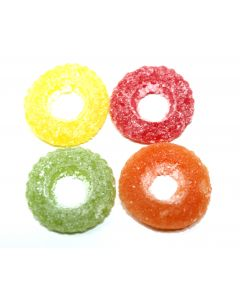 Fruity Sour Gummy Tires (Dragster Sura) (2 Lbs)