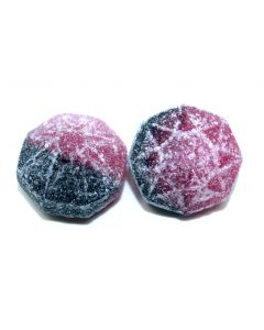 Raspberry and Licorice Hard Gem Candies (Hallonlakritsbamsing) (2 Lbs)