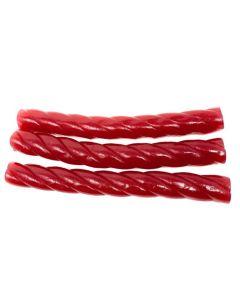Swedish Raspberry Licorice  Mega Sticks (Big Hallonskruv Mega) (2.200 Lbs)