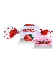 Klubnika so slivkami Strawberry Filled Hard Candy (2 Lbs)
