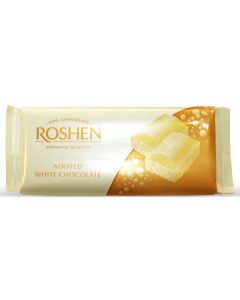 White Aerated Chocolate 80gr Bar (4 pcs)