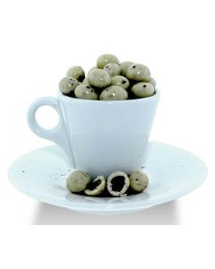 Coffee & Creme White Chocolate  Cov. Espresso Beans (1 Lbs)