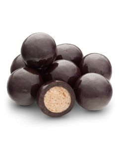 Dark Chocolate Skinny Dipper Malt Balls (Single Dipped) (1.500 Lbs)
