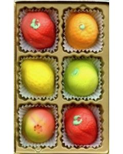 Marzipan Fruit 6 Piece Assort (2 pcs)