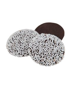 Snow Caps Dark Chocolate Nonpareiles (1.500 Lbs)